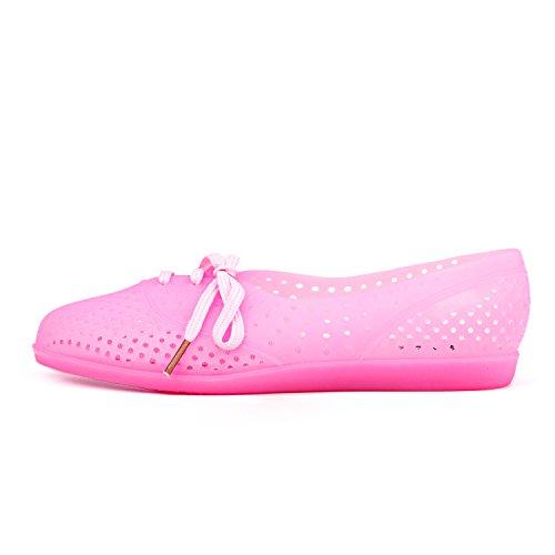 Shenduo - Chanclas de verano de material sintético cómodas para mujer D7910 Pink