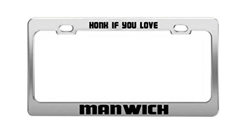 honk-if-you-love-manwich-funny-humor-license-plate-frame-auto-tag-holder