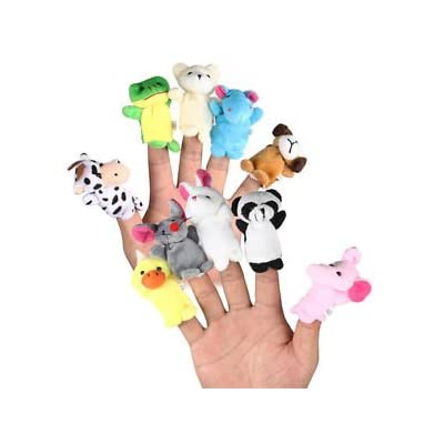 2020 BEST selling product-10 Pcs Family Finger Puppets Cloth Doll Baby Educational Hand Cartoon Animal Toy: Toys & Games