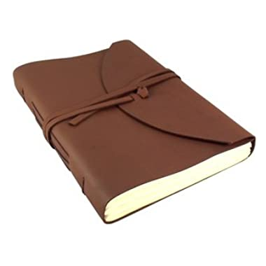 Large Genuine Leather Legacy Journal / Sketchbook with Gift Box - 400 Pages - 9  x 12  - Rich Dark Brown
