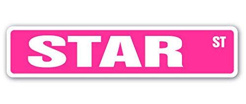 Cortan360 STAR Street Sign Childrens Name Room Sign  Indoor/Outdoor   8