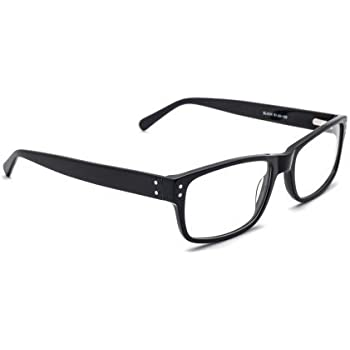 33cb2cbbb1ee Real Glass Reading Glasses with Clear Real Glass Lenses in High Quality Geek  Style Frame Available in Reading Magnification +0.25 to +3.00 (2.00)