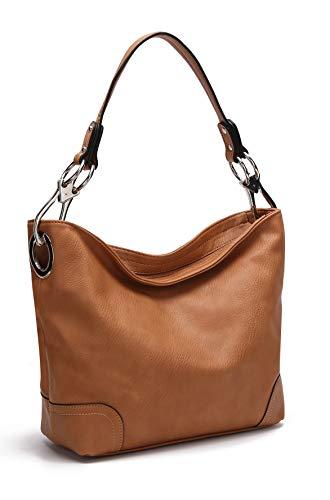 MKF Hobo bag for Women - Satchel-Tote shoulder Bag - Vegan Leather Womens Purse Top Handle Pocketbook Handbag Tan