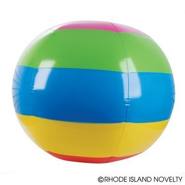 INFLATABLE BALLS RAINBOW INFLATE TRADITIONAL