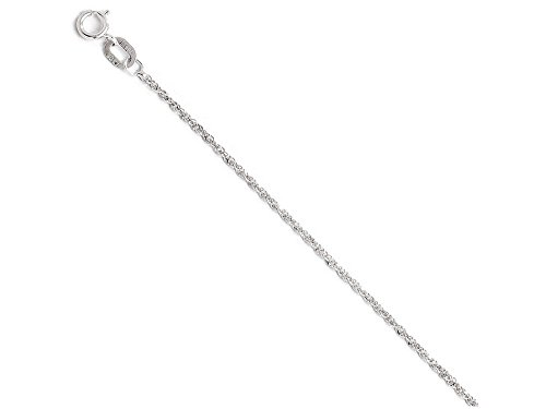 Finejewelers 10k White Gold Sparkle Singapore Chain Necklace (Gold Sparkle Singapore Chain)