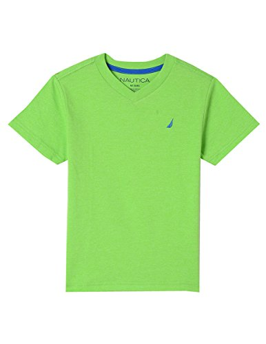 Nautica Boys' Toddler Short Sleeve Solid V-Neck T-Shirt, Marcos Lime, 4T