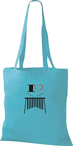Para Shirtstown Azul De Tela Sky Algodón Mujer Bolso FvxUIwqvp