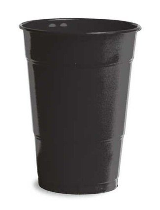 Black Plastic Cups