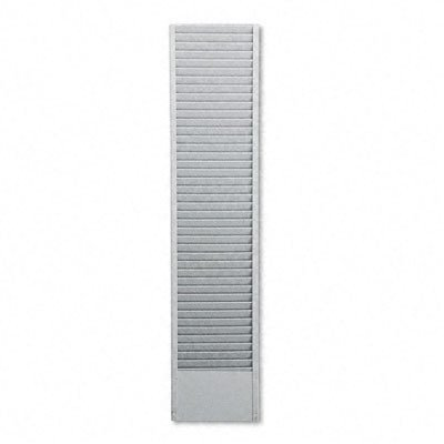Buddy 40 Pocket Badge Holder - 40-Pocket Badge Holder Rack, Horizontal, Recycled Steel, Platinum
