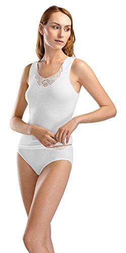 Hanro Women's Fiona Tank Top, White, Small