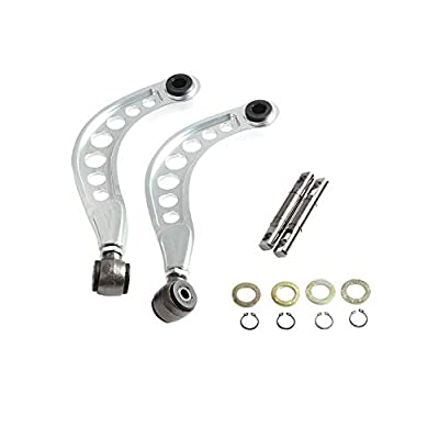 BLACKHORSE-RACING 2PCS Rear Adjustable Upper Camber Kit Silver Fit for 2006 2007 2008 2009 2010 2011 2012 2013 2014 2015 Honda Civic LX EX DX SI: Automotive