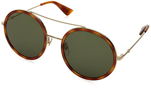 Gucci Women GG0061S 56 Gold/Green Sunglasses - Glasses Online Gucci
