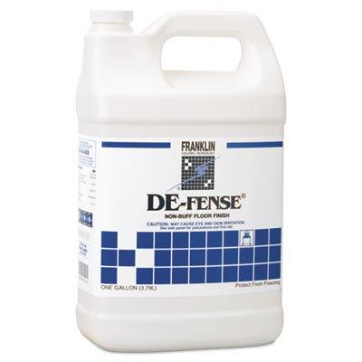 Franklin Cleaning Technology F135022 DE-FENSE Non-Buff Floor Finish, Liquid, 1 Gallon Bottle (Case of 4 Gallons)