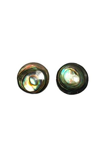 Real Abalone Earrings Silver Dangle Earrings Lot Jewelry Drop/Long Round Shape Silver925 by Mr_air_thai_Earrings