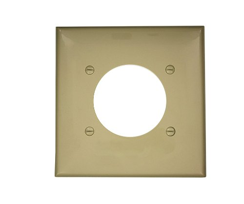 Leviton 80726-I 2-Gang Flush Mount 2.15-Inch Diameter, Device Receptacle Wallplate, ()