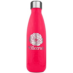Fall Flowers RTIC Bottle - Pink - Engraved Front (Personalized)