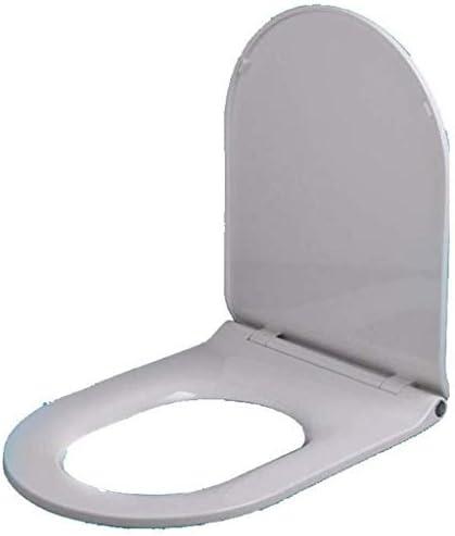 Djyyh 便座ユニバーサル便座U/Vシェイプドロップミュート抗菌PPボードトップマウントされたトイレのふた、ホワイト-426〜474ミリメートル* 360ミリメートル