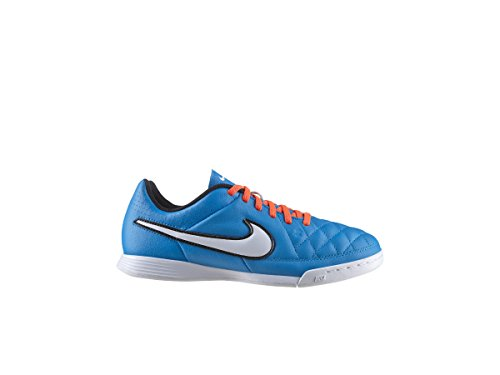 Nike JR Tiempo Genio Leather IC Kinder Fussballschuhe neo turquoise-white-hyper crimson - 34