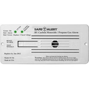 MTI INDUSTRY LP & CO ALARMS & DETECTORS RV 12V CO/LP GAS ALARM FLUSH-WHT