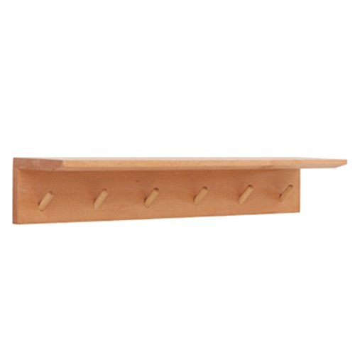 Coat Rack Solid Wood Wall Hanger Wall Mount Simple Multi-Functional Living Room Rack Hanging Clothes Hook 471114cm Easy to Install (Color : #2, Size : 701114cm) ()
