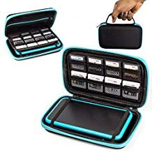 2DS XL Case, Orzly Carry Case for New Nintendo 2DS XL - Protective Hard Shell Portable Travel Case Pouch for New 2DS XL Console with Slots for Games & Zip - Ds Teal Nintendo