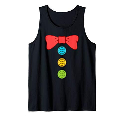 Clown Costume Suit Bow Tie Funny Halloween Tank Top