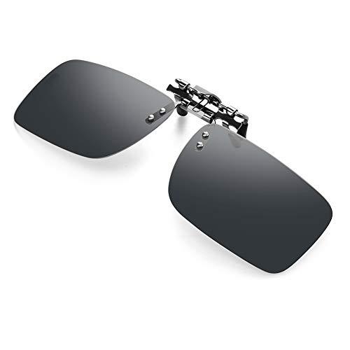 - Clip-on Polarized Sunglasses For Driving - Flip Up Rimless Sunglasses for Prescription Glasses