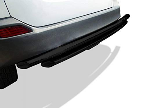 BLACK HORSE Rear Double Layer Bumper Guard Protector Cover Lip CRDL-JEJ201B