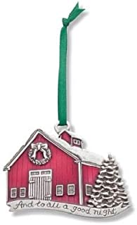 product image for DANFORTH - A Good Night 2014 Annual Ornament - Red Barn - Pewter - Satin Ribbon - Handcrafted - USA