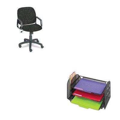 KITSAF3265BLSAF7045BL - Value Kit - Safco Cava Urth Collection High Back Swivel/Tilt Chair (SAF7045BL) and Safco Mesh Desk Organizer (SAF3265BL)