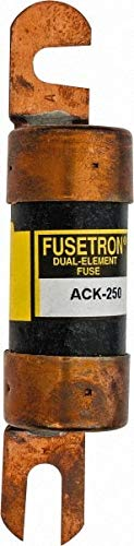 Cooper Bussmann - 250 Amp Time Delay Fast-Acting Forklift & Truck Fuse - 80VAC, 80VDC, 4.71'' Long x 1'' Wide, Littelfuse CCK250, Bussman ACK-250, Ferraz Shawmut ACK250