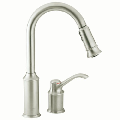 - Moen 7590CSL Aberdeen One-Handle High-Arc Pulldown Kitchen Faucet Featuring Reflex, Classic Stainless