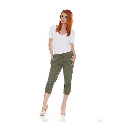 45c719706c8 Suko Jeans Womens Cargo Capri Pants Pull on Stretch Poplin free shipping