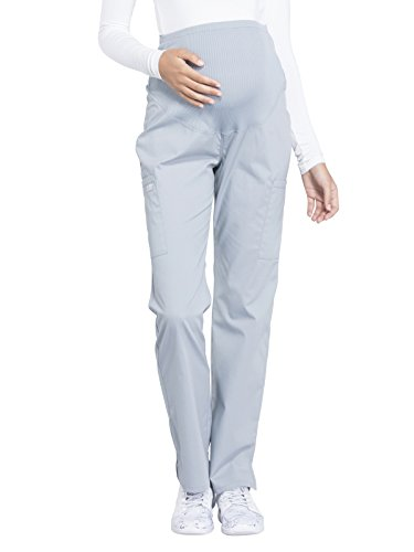 Cherokee WW Professionals WW220 Maternity Straight Leg Pant Grey M Petite ()