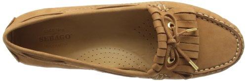 Sebago Donna Meriden Tan Kiltie Slip On Casual Scarpe Scamosciate Mocassino B409043 Marrone Chiaro