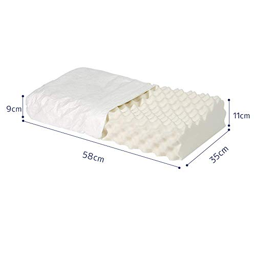Household Rubber Cushion Core Men and Women Single Neck Cervical Pillow Adult Breathable Comfort Natural Indulgence (Issue: B) (Color : -, Size : A)