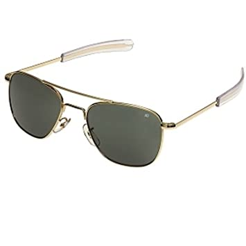 b393b74bb4 Image Unavailable. Image not available for. Color  American Optics 57mm US  Pilot Sunglasses ...