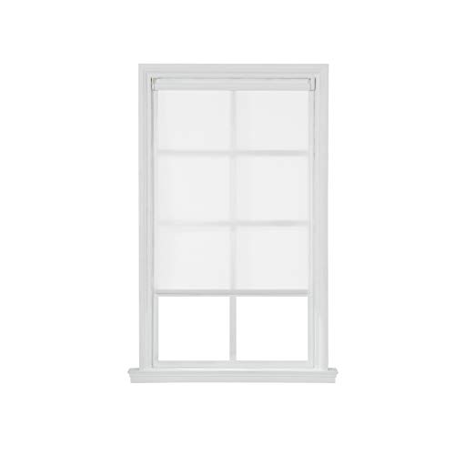 Cordless Light Filtering Fabric Interior Roller Shade (White 23 in. W x 72 in. L)