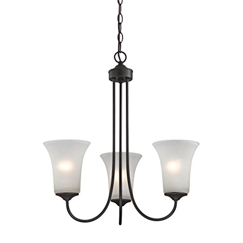 Chandelier Charleston Collection - Illuminati Collection Charleston 3 Light Chandelier In Oil Rubbed Bronze