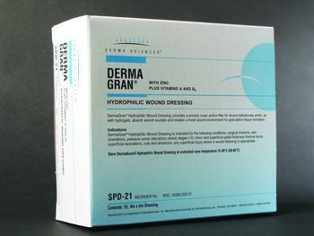 Dermagran Hydrophilic Wound Dressing (Dermagran -B Hydrophilic Wound Dressing, Dermagran B Hydrophl Drs 4X4, (1 BOX, 15 EACH))
