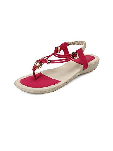 meriggiare Women Synthetic Pink Flats