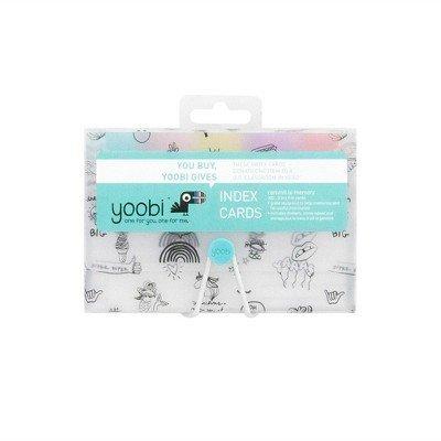 Index Cards in Doodled Case - Yoobi153; Clear