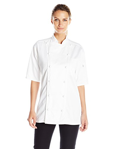 Uncommon Threads Unisex  S/s Master Chef, White, Large by Uncommon Threads (Image #1)