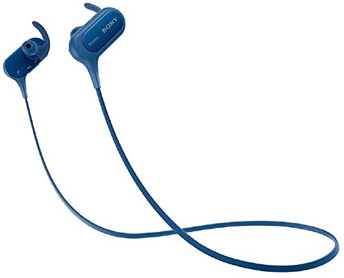 Renewed  Sony Extra Bass MDR XB50BS Active Sports Wireless in Ear Headphones  Blue