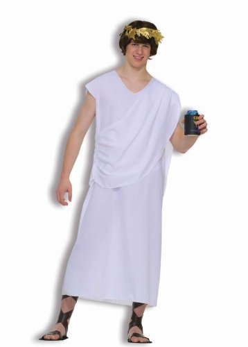 Forum Novelties Men's Teenz Unisex Costume Toga, White, One Size ()