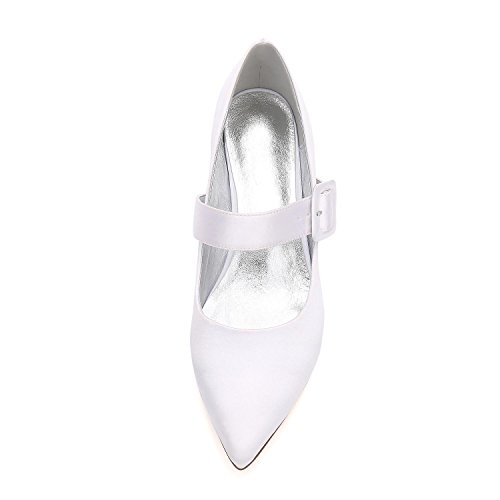 L@YC Mujer Low Mid Kitten Stiletto Plataformas De TacóN Zapatos De Novia De Boda 99634-11 Purple