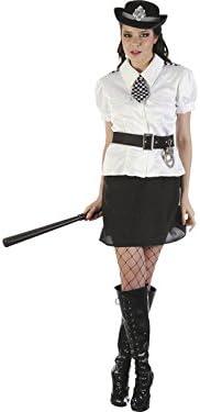 DISONIL Disfraz Policia Camisa Blanca Mujer Talla L: Amazon.es ...
