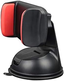 車の吸引のコップブラケット、車の電話ホールダーの空気出口の運行ブラケット360°回転式満ちる座席 (色 : Black red)