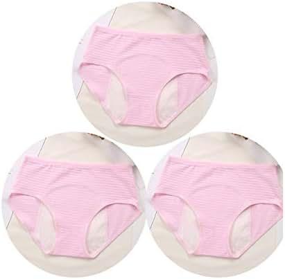 3Pcs Cotton Solid Period Leak Proof Panties Soft Breathable Mesh Women Underwear Seamless Breifs