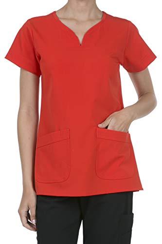 8045 Women's Uniform Scrubs Medical 2 Pocket Scrub Top RED L ()